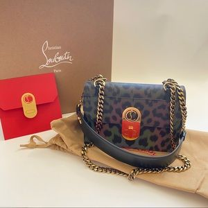 NWT Christian Louboutin Mini Elisa Leopard Bag